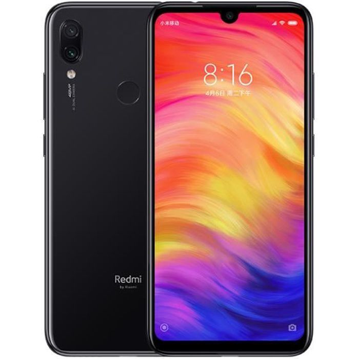 SMARTPHONE XIAOMI Redmi Note 7 64 Go Noir