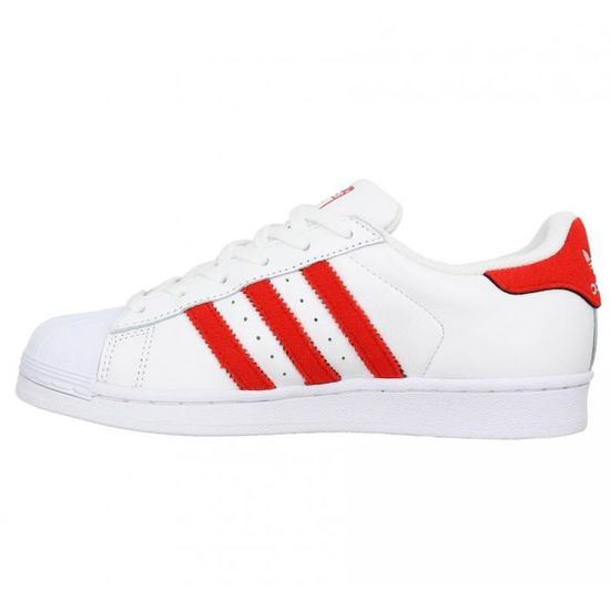 Baskets ADIDAS Superstar cuir Femme-36-Blanc Red