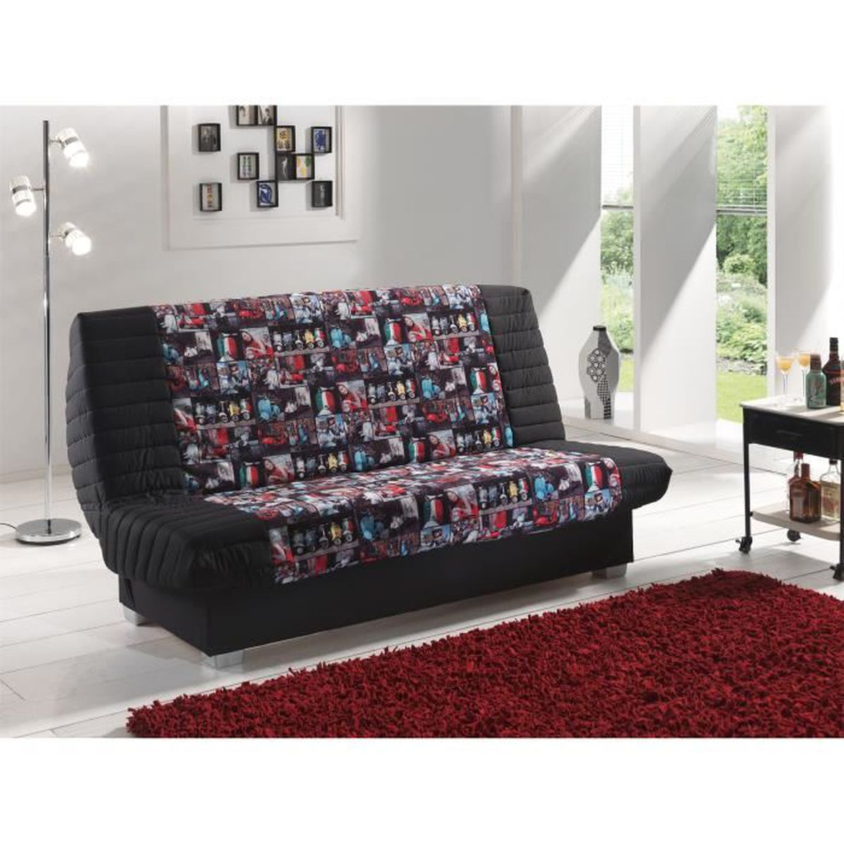 canap clic clac convertible mona achat vente clic. Black Bedroom Furniture Sets. Home Design Ideas