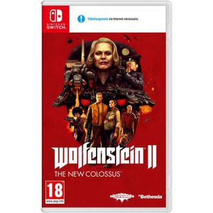 JEU NINTENDO SWITCH WOLFENSTEIN II : The new colossus Jeu Switch