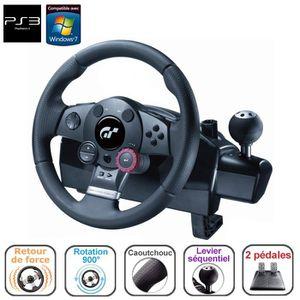 VOLANT JEUX VIDÉO LOGITECH DRIVING FORCE GT PS3 et PC
