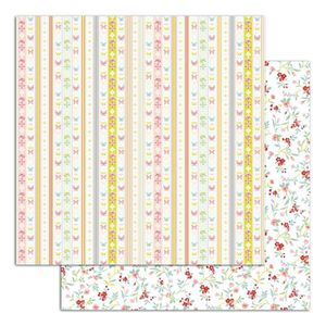 TOGA Lot de 6 papiers recto verso - 30x30 - Jardin secret