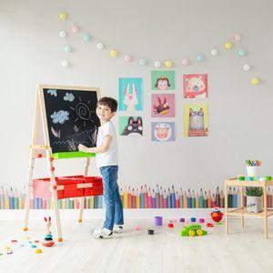 TABLEAU ENFANT Tableau évolutif chevalet enfant en bois multifonc