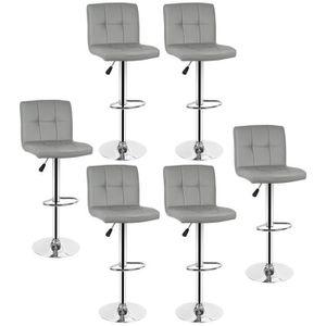 TABOURET DE BAR   Lot de 6 Tabourets de bar chaise fauteuil bistro