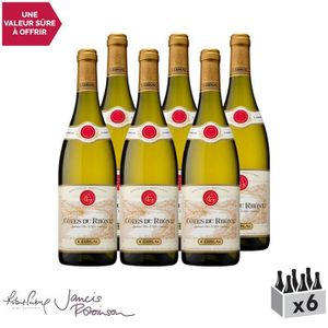 VIN BLANC Côtes du Rhône Blanc 2017 - Lot de 6x75cl - Maison