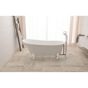 BAIGNOIRE - KIT BALNEO Baignoire design - blanc - 160x72x75