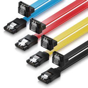 CÂBLE E-SATA deleyCON 4X 0,5m SATA 3 Câble for HDD SSD Câble de