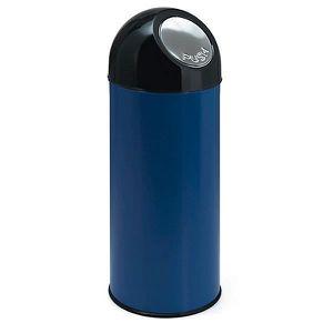 POUBELLE - CORBEILLE Collecteur de déchets PUSH - tôle d'acier, capacit