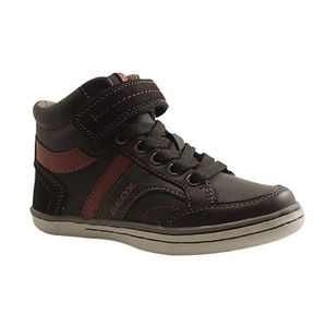 Geox Garcia B Boys Waxed Cuir Hi Top Baskets - Chaussures - Brun Brown 6.5 MEz2jDaX