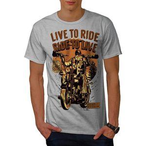 T-SHIRT Vivre À Balade Biker Slogan Men  T-shirt | Wellcod