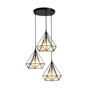 LUSTRE ET SUSPENSION Lustre-suspension Cage Forme Diamant Contemporain-