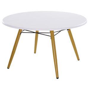 TABLE BASSE Table Oslo Blanc