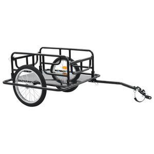 vidaXL Attelage de Remorque Vélo Fer Adaptateur Embrayage Raccord Bicyclette