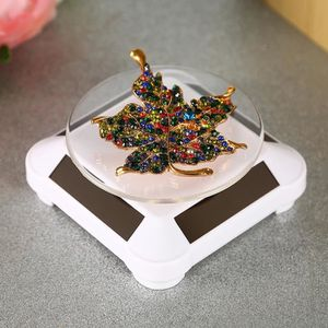 montre-bracelet Vitrine solaire de mode 360 bo/îtiers et pr/ésentoirs /à bijoux rotatifs automatiques /à plateau tournant pour collier noir