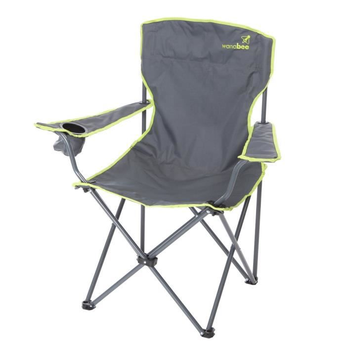 wanabee fauteuil de camping pliant avec housse de. Black Bedroom Furniture Sets. Home Design Ideas