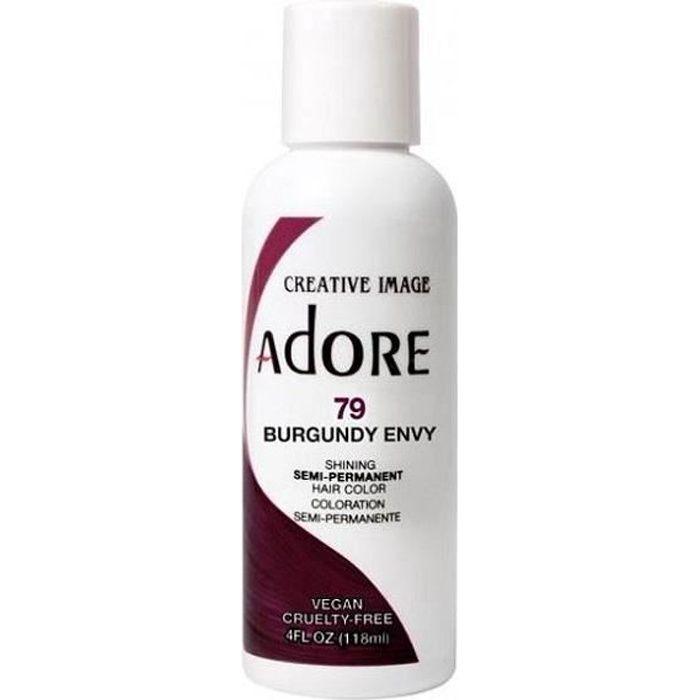 Adore Semi-Permanent Hair color #079 Burgundy Envy, 4 Oz