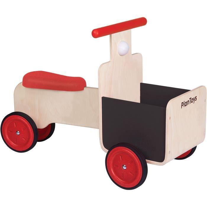 PLAN TOYS Jeu en bois Tricycle avec bac