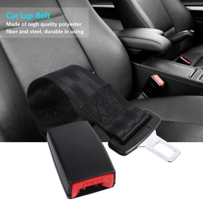 FOURREAU DE CEINTURE(fibre de polyester + acier + plastique)-noir-Sangle d'extension de ceinture de sécurité