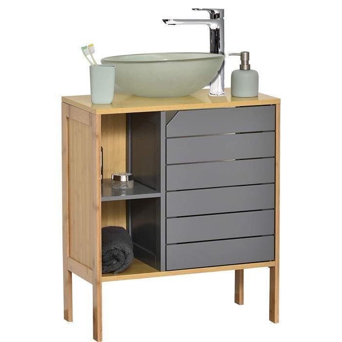 MadeInNature Meuble pour Salle de Bain Calédonie, Disponible en 6 déclinaisons Meuble Toilette ou Salle de Bain (Meuble sous lavabo