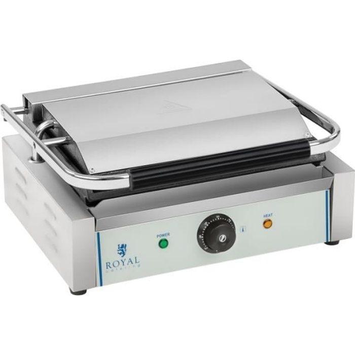 Machine à panini - 1 x 2.200 watts acier inox professionnel 3614034
