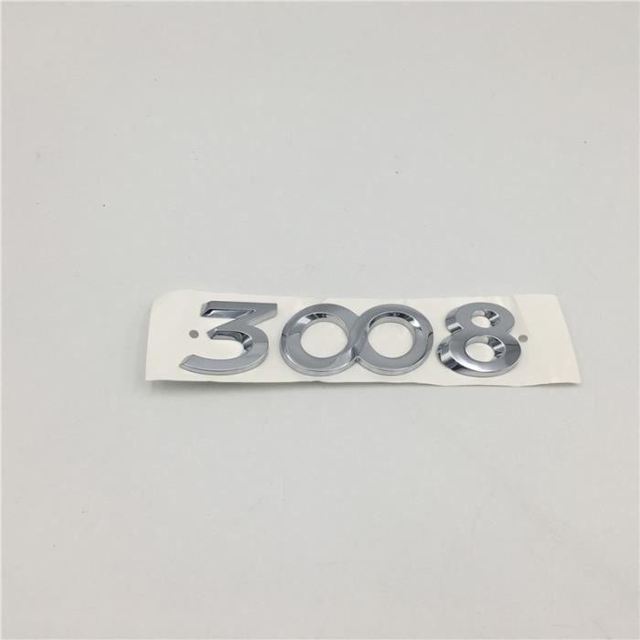 3008 -Pour 206 207 301 306 307 308 406 408 508 2008 3008 4008 5008 Emblème Queue Arrière Logo Voiture Accessoires