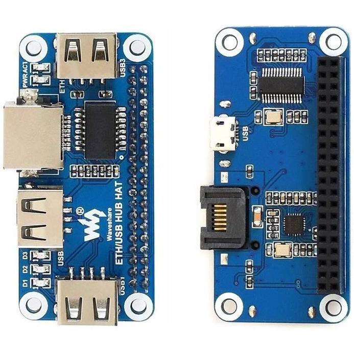 Raspberry Pi 4B / Zero W USB vers Ethernet RJ45 Port réseau Répartiteur de concentrateur USB HUB