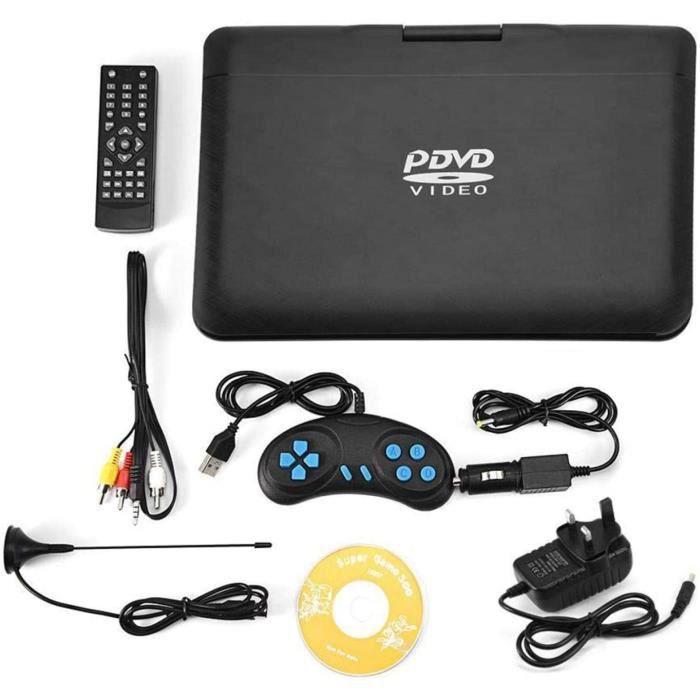 LECTEUR DVD PORTABLE Lecteur DVD portable de 13,9 pouces avec &eacutecran pivotant HD de 10,1 pouces, grande batterie int&eac59