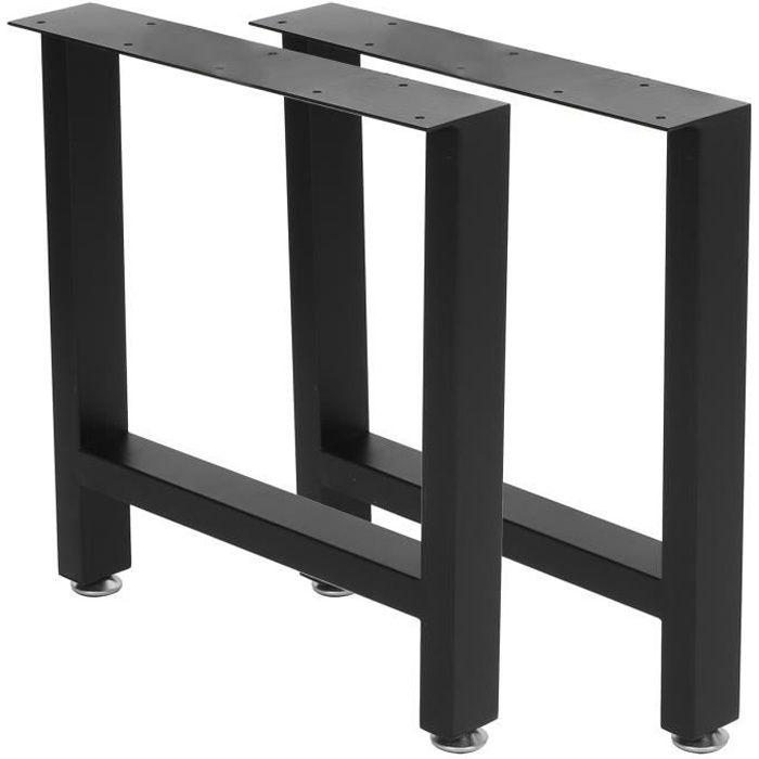ZJCHAO pieds de bancs Jambes de meubles modernes industriels Table à manger en métal robuste Jambes de bureau Bancs de maison