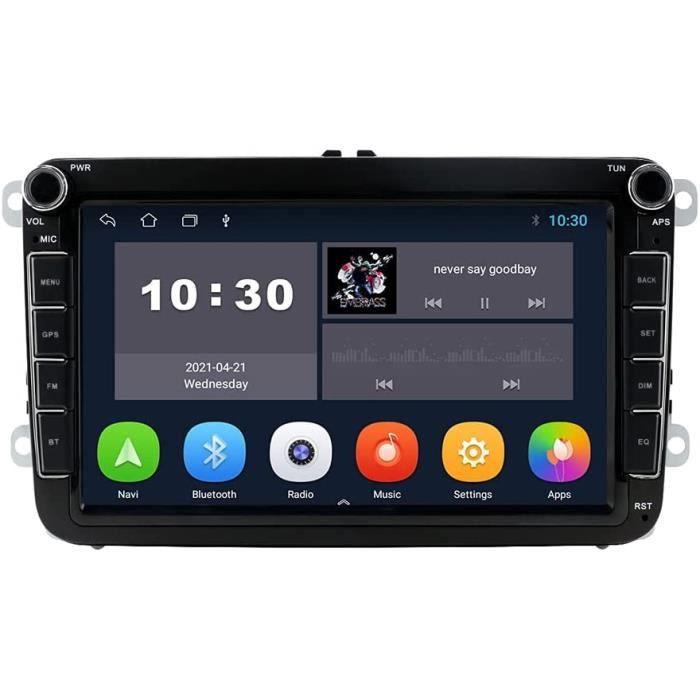 Android 10 OS 8 Pouces 2 Din autoradio Moniceiver GPS Navigation Bluetooth pour Volkswagen Golf Passat Skoda siège Polo Amarok[316]