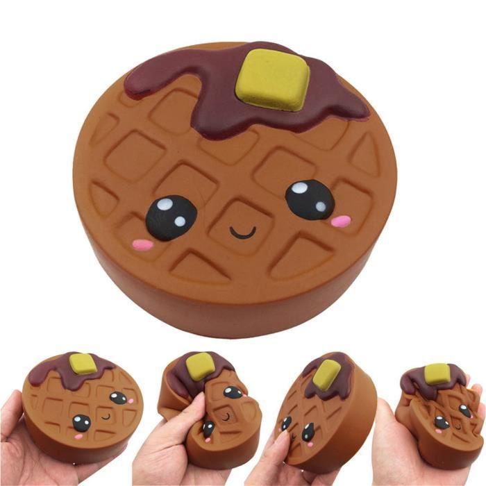 Biscuits au chocolat de dessin animé mignon et doux charme jouets anti-Stress à croissance lente wo12584
