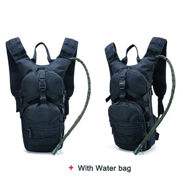 Tactique Molle Hydratation Poche à Eau Sac a Dos léger Sac Respirant Cyclisme Moto Randonnée Voyages Camping avec vessie d'eau 3L