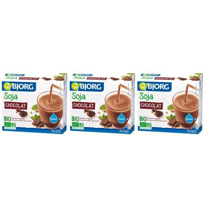 BJORG Mini Soja Chocolat Calcium Bio 3X25cl X3
