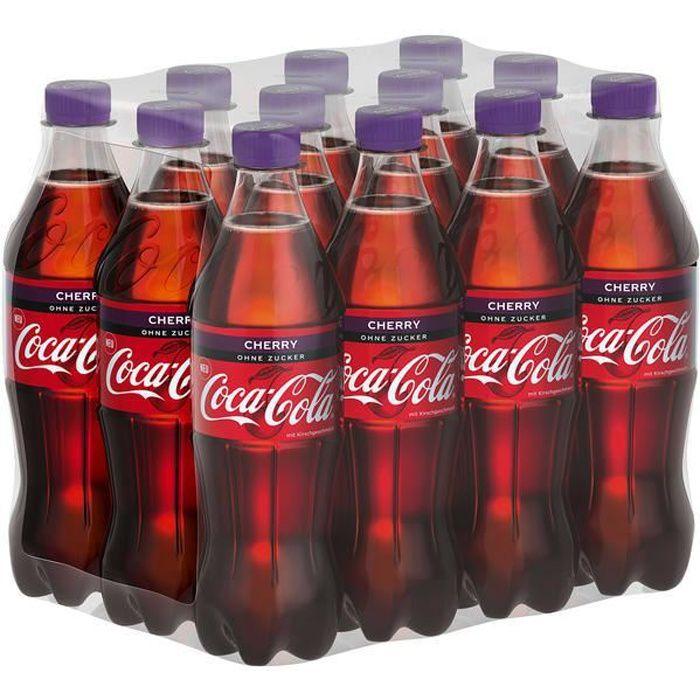 Coca Cola Cherry Zero (Sans Sucre) 0,5l (Pack de 12)