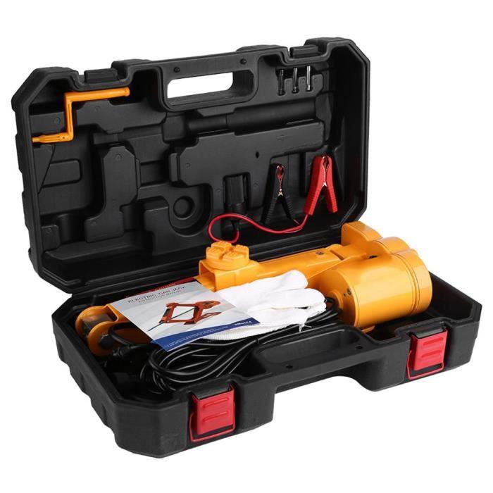 Cric électrique 2 Tonnes 12V DC Cric Electrique Automatique de Voiture Garage Equipement Urgence Levage