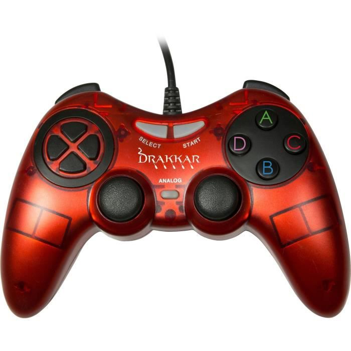 Manette Konix Drakkar Blood Axe Rouge pour Pc