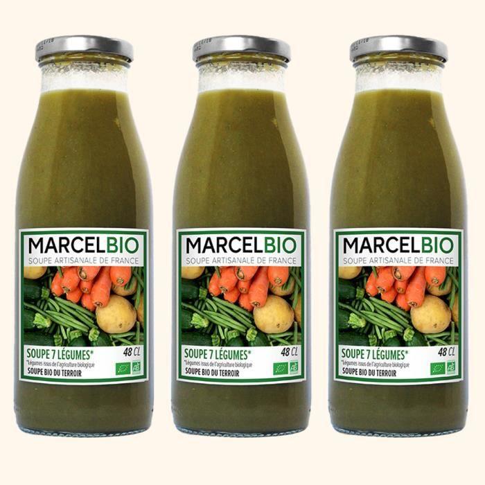 Marcel Bio - Soupe aux 7 Légumes Bio 48cl - Pack de 3