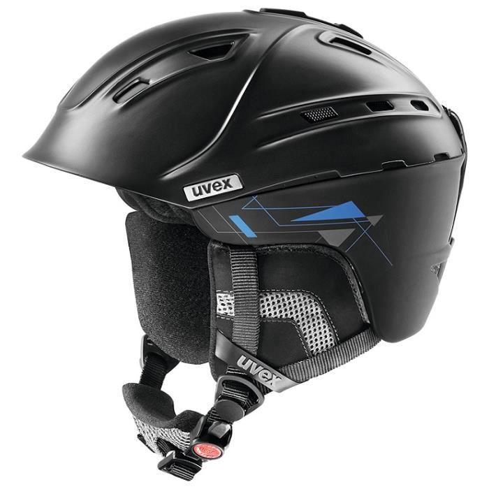 Uvex P2Us Casque de ski Noir Mat Taille 55-59 cm