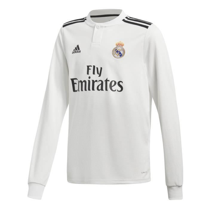 Maillot domicile junior manches longues Real Madrid 2018/19