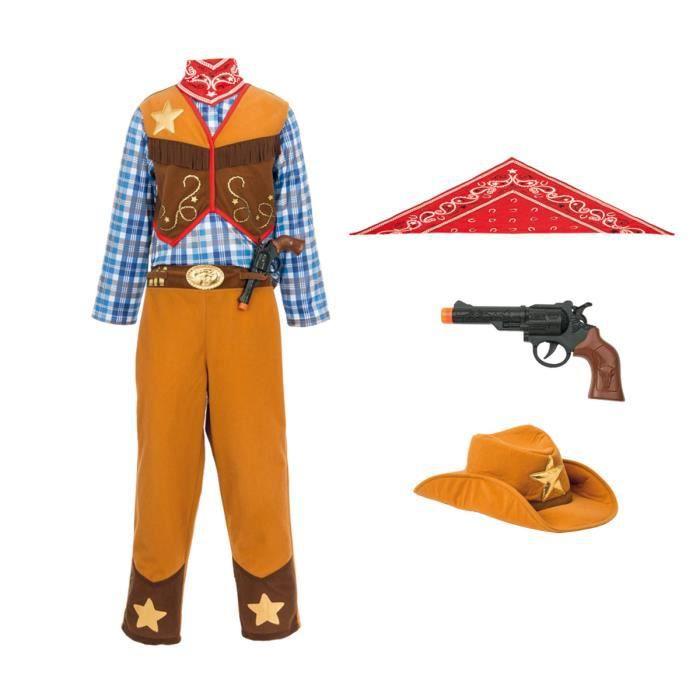 OXYBUL Déguisement cow-boy 8-10 ans Halloween mardi gras déguisement enfants