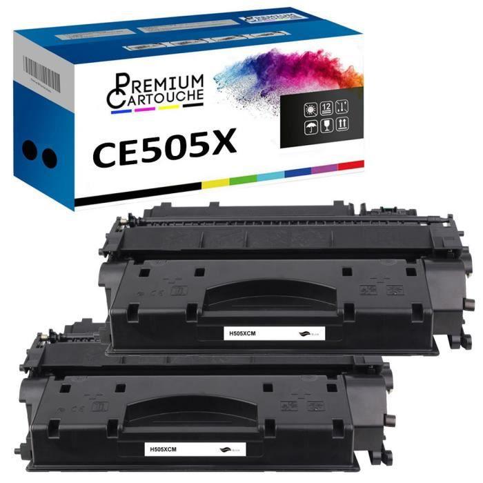 Toner CE505X 05X Noir x2 Compatible pour HP LaserJet P2035 P2035N P2055D P2055DN P2055X HP LaserJet Pro 400 M401 M401A M401N M401D M