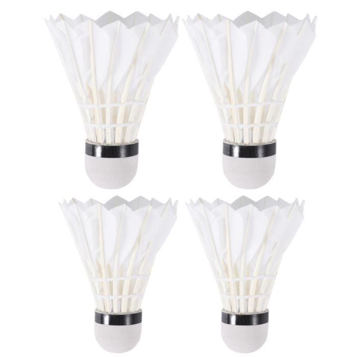 4 pièces ensemble-cadeau accessoires de sport nuit volants lumineux badminton créatifs pour gymnase parc VOLANT DE BADMINTON