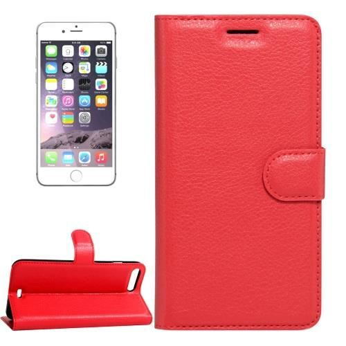 coque iphone 7 plus cuir rouge