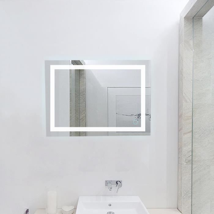 miroir lumineux led salle de bain 24w lampe de miroir. Black Bedroom Furniture Sets. Home Design Ideas