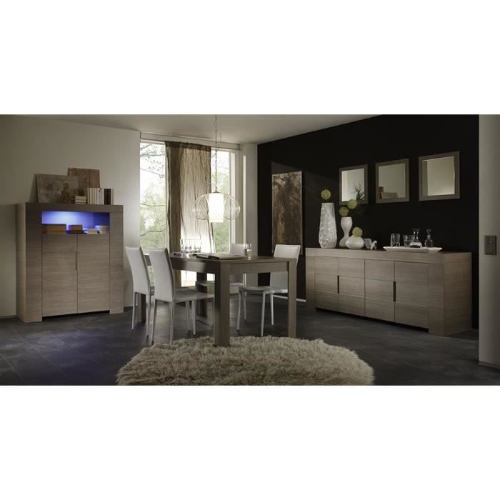 Salle manger compl te couleur ch ne gris contemporaine for Salle a manger contemporaine complete