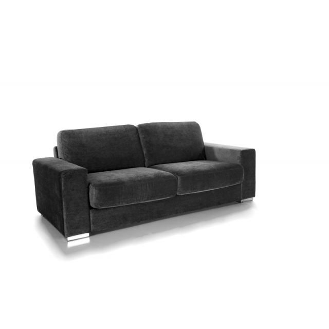 canape convertible microfibre gris anthracite achat vente canap sofa divan cdiscount. Black Bedroom Furniture Sets. Home Design Ideas