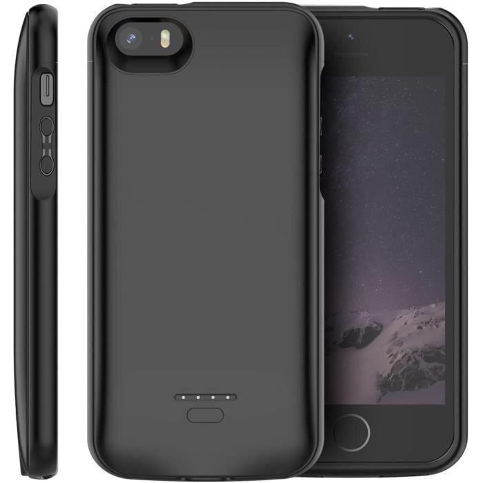 iphone se 5se 5 5s coque batterie 4000mah recharg