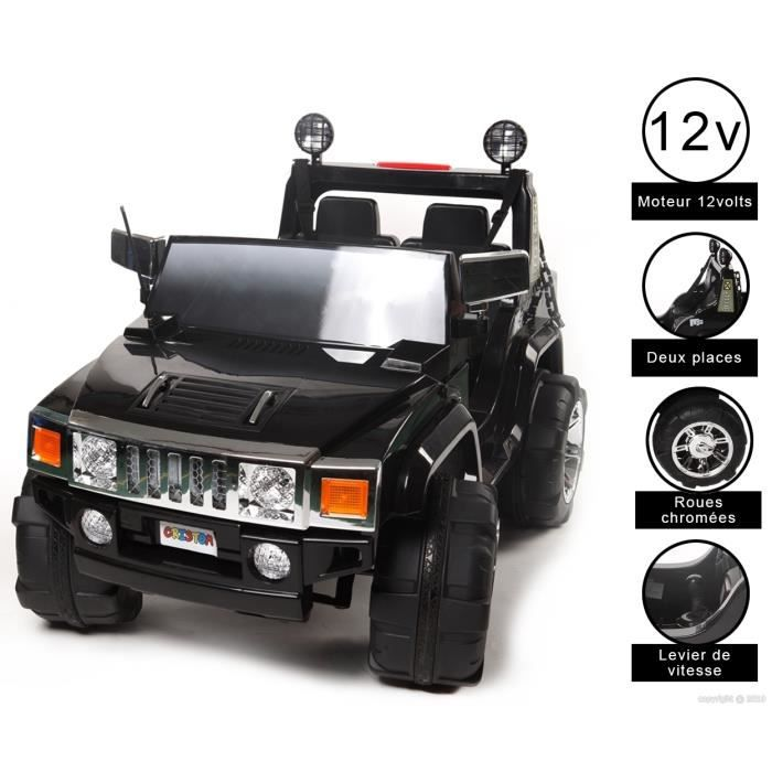 4x4 lectrique enfant cristom hummer 12 volts achat vente voiture enfant cdiscount. Black Bedroom Furniture Sets. Home Design Ideas