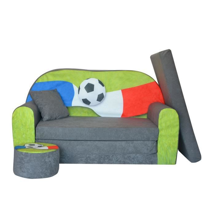 lit enfant fauteuil canap pouf coussin sofa convertibles football fan zone fr achat vente. Black Bedroom Furniture Sets. Home Design Ideas