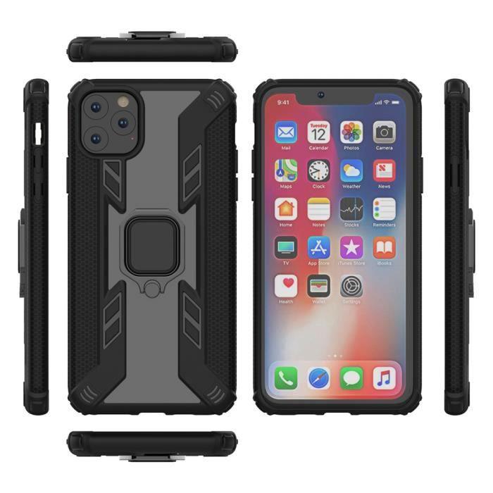 coque iphone 11 pro max noir premium solide antich
