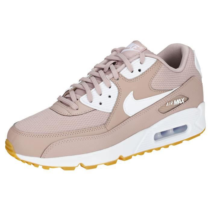 new style ba15c 2fb83 BASKET Nike Air Max 90 Femme Baskets Taupe